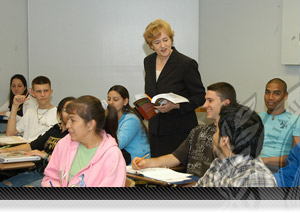 Professor Working with Students